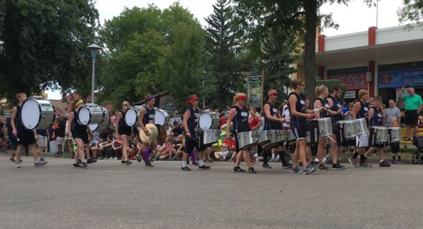 Fall Drumline Performs at the Great Minnesota Get Together